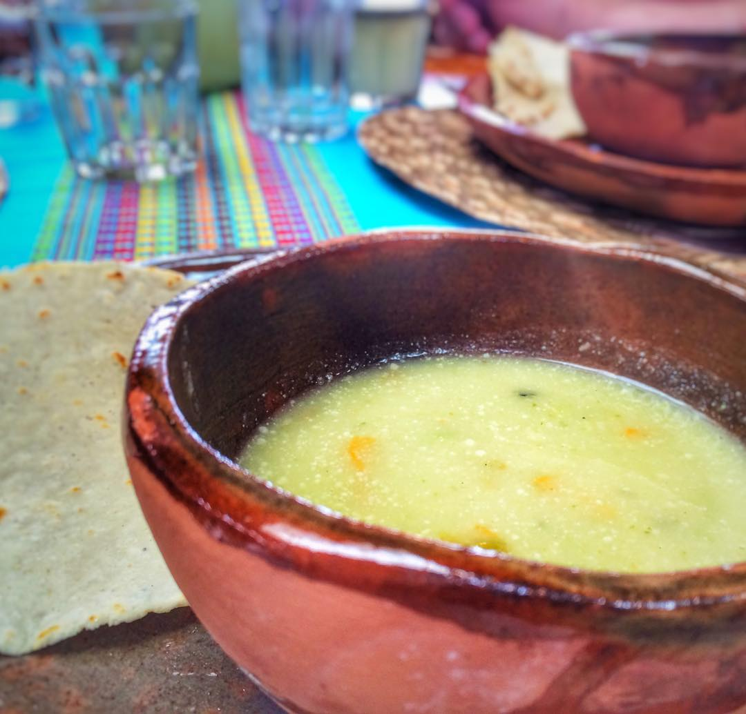 #SquashBlossom #soup prepared by #lavillabonita #culinary #vacation guests (in my new #flatware! woohoo!) #mytepoz #tepoztlan