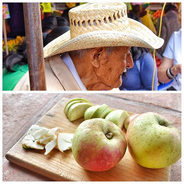 I love my #apple vendor.  It is a #LuckyDay.  Those great old variety apples that are crisp and tart.  It always reminds me of how apples are supposed to taste.  These are grown in San Juan just up the mountain from #Tepoztlan.  He doesn´t have a stall so you just have to be lucky as he walks around with his buckets of apples. #eatlocal #buylocal #savelocalvarieties #mytepoz #LaVillaBonita #CulinaryVacation #foodieparadise